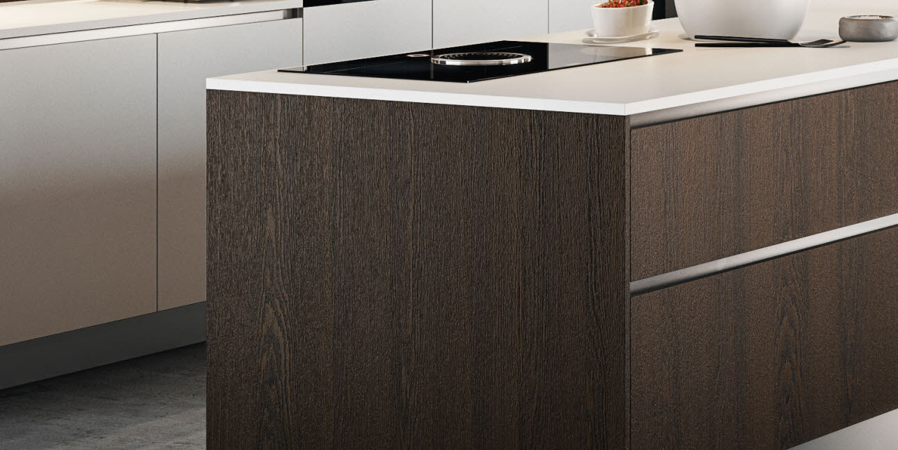 Atemberaubend Dunkle Eiche Küchenschränke Bilder Bilder - Küche Set ...