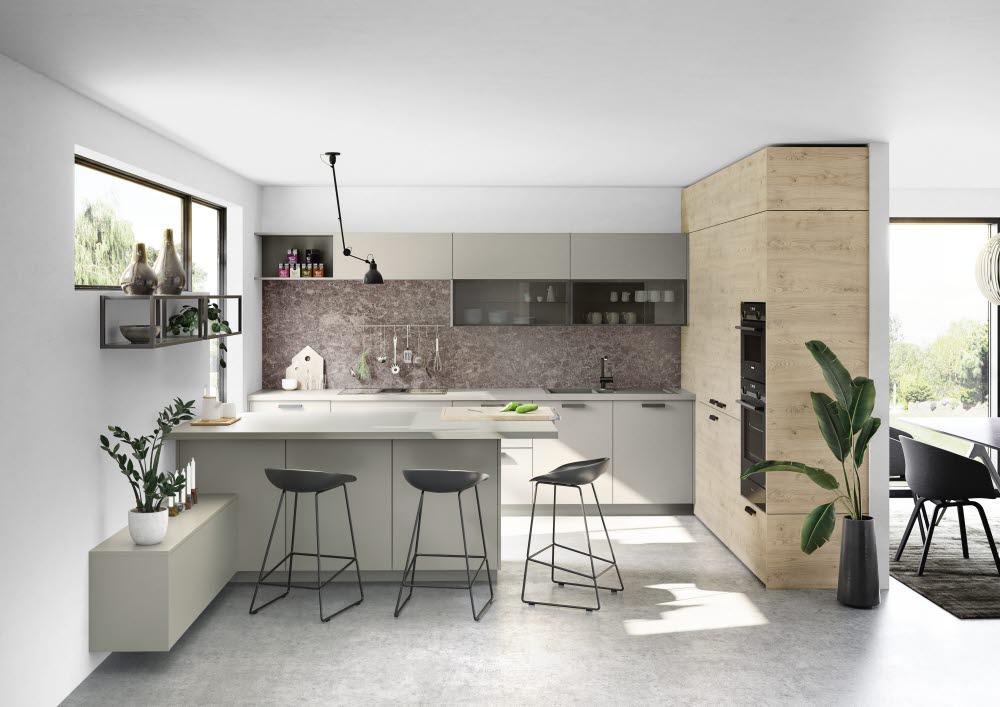 ewe Nuova taupe kastanie | schöne Küchen | Küche modern ...