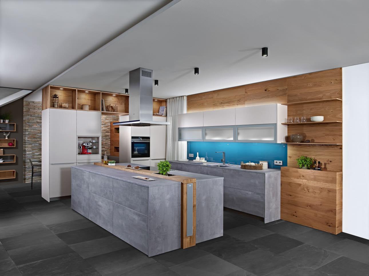 beton optik k che k chenmodelle ewe k chen. Black Bedroom Furniture Sets. Home Design Ideas