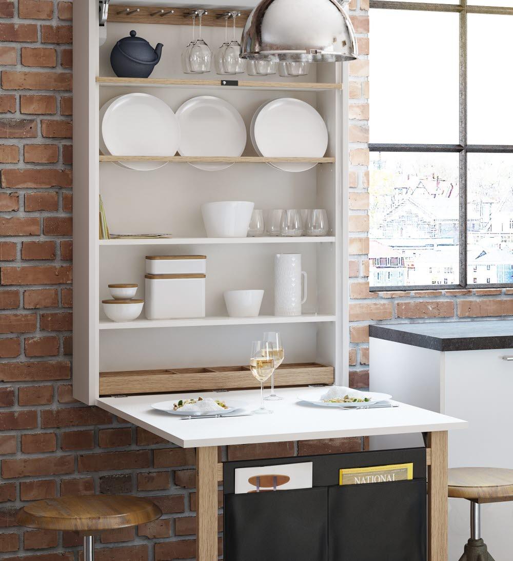 wandklapptisch. Black Bedroom Furniture Sets. Home Design Ideas