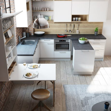 arbeitsplatz mit ikea m bel. Black Bedroom Furniture Sets. Home Design Ideas