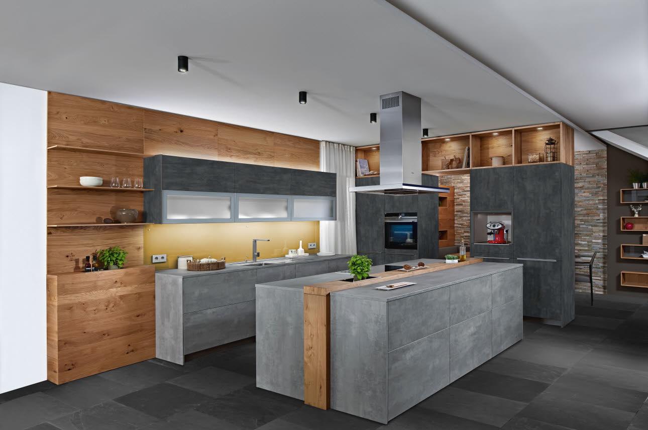 moderne kuche holzoptik – caseconrad