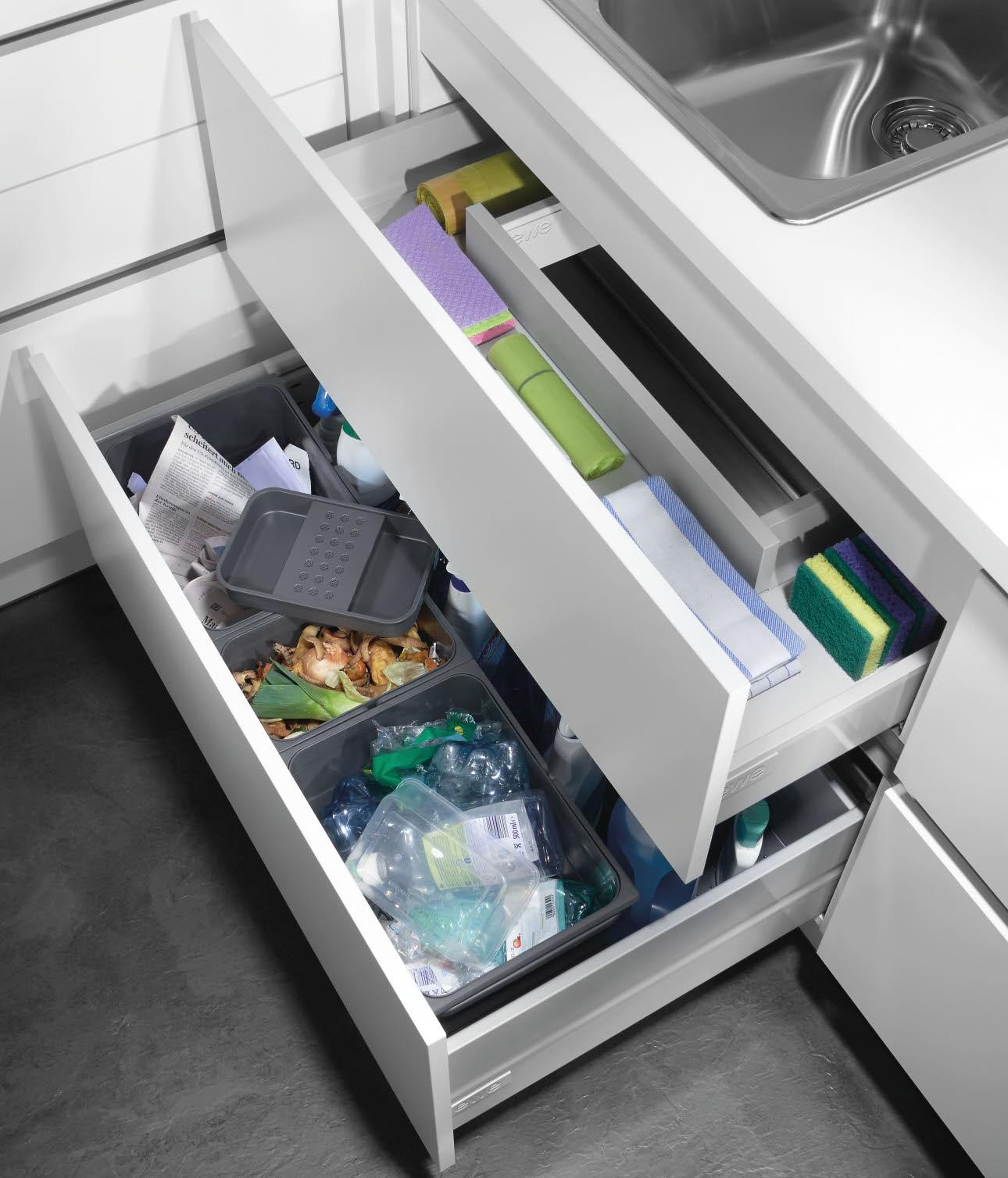 Abfallsystem Zubehör und Ausstattungsdetails