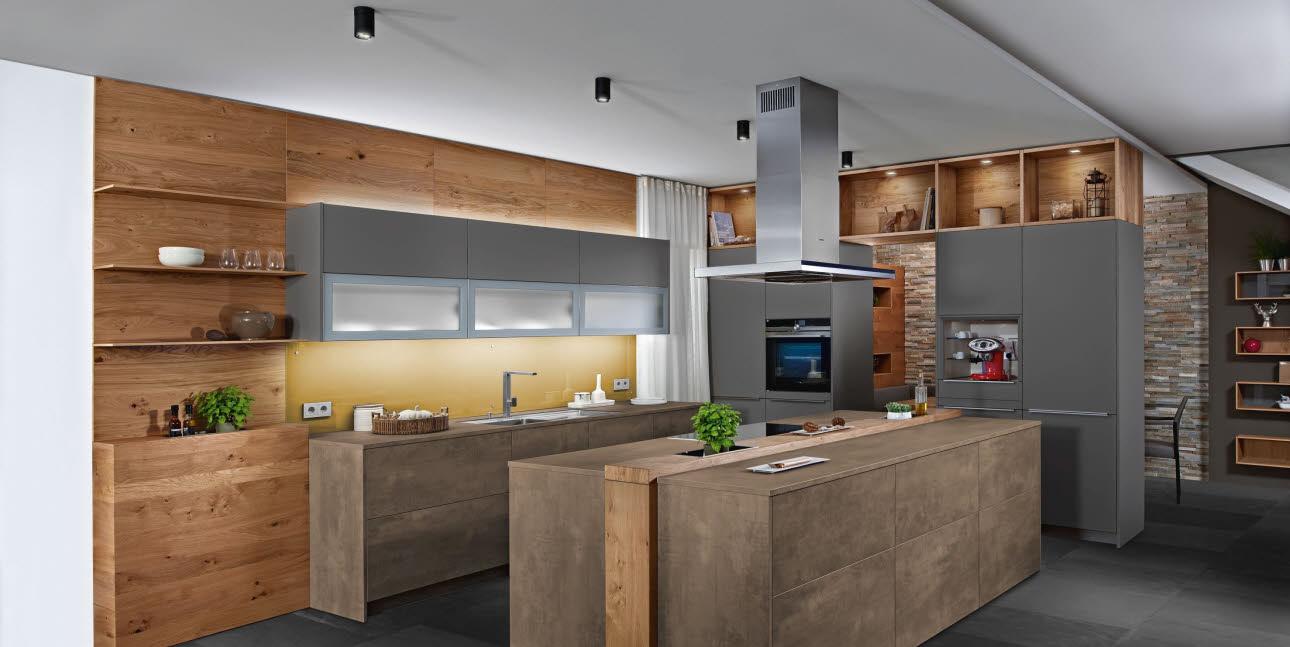 Beton Optik Küche Küchenmodelle Ewe