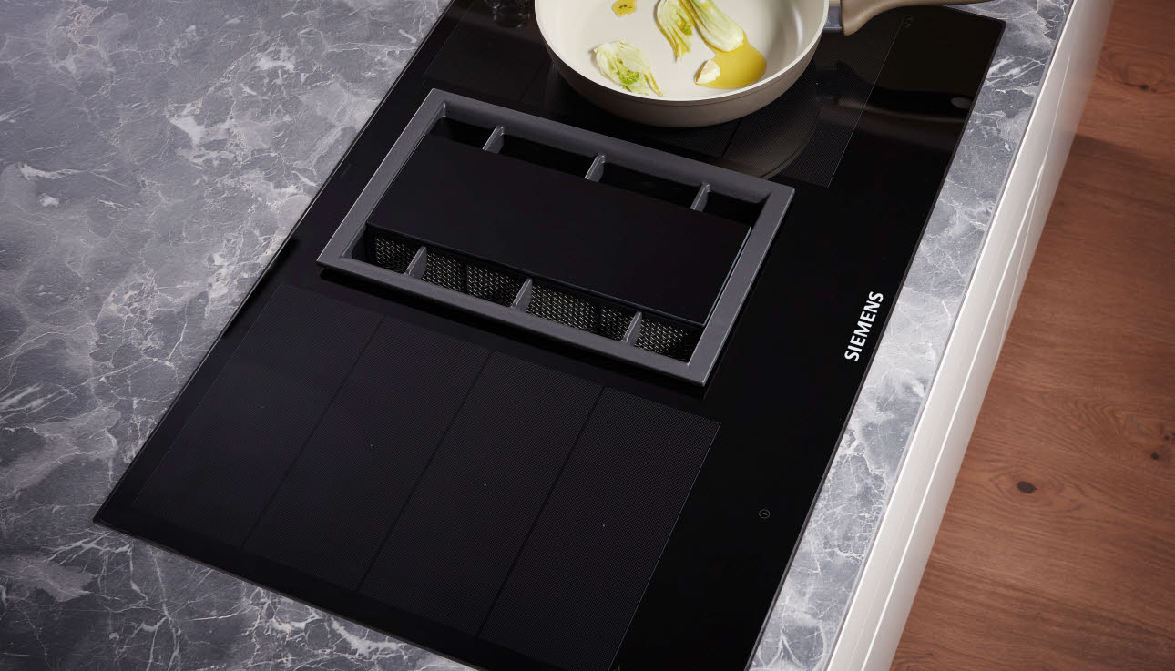 integrated flush induction cook top