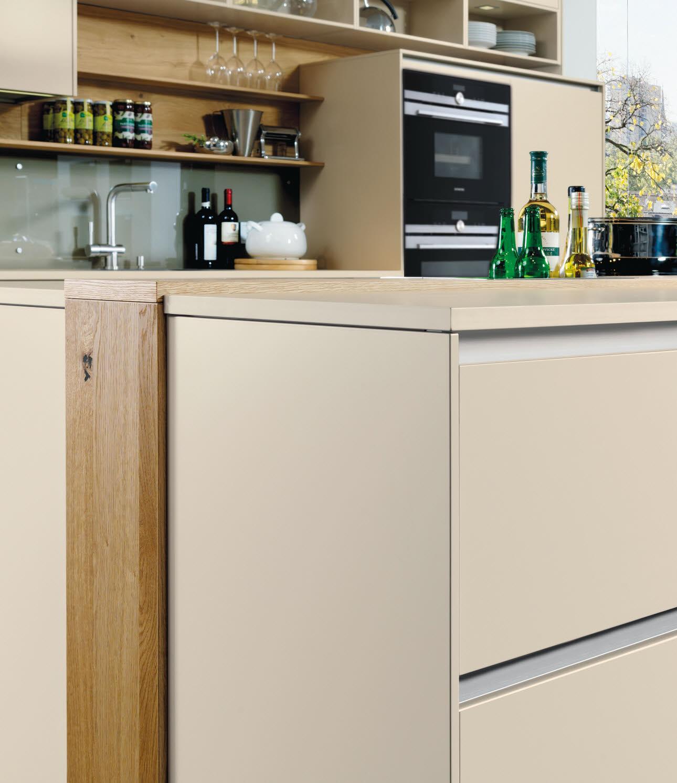 griffloses k chenmodell vida inselblock ewe. Black Bedroom Furniture Sets. Home Design Ideas