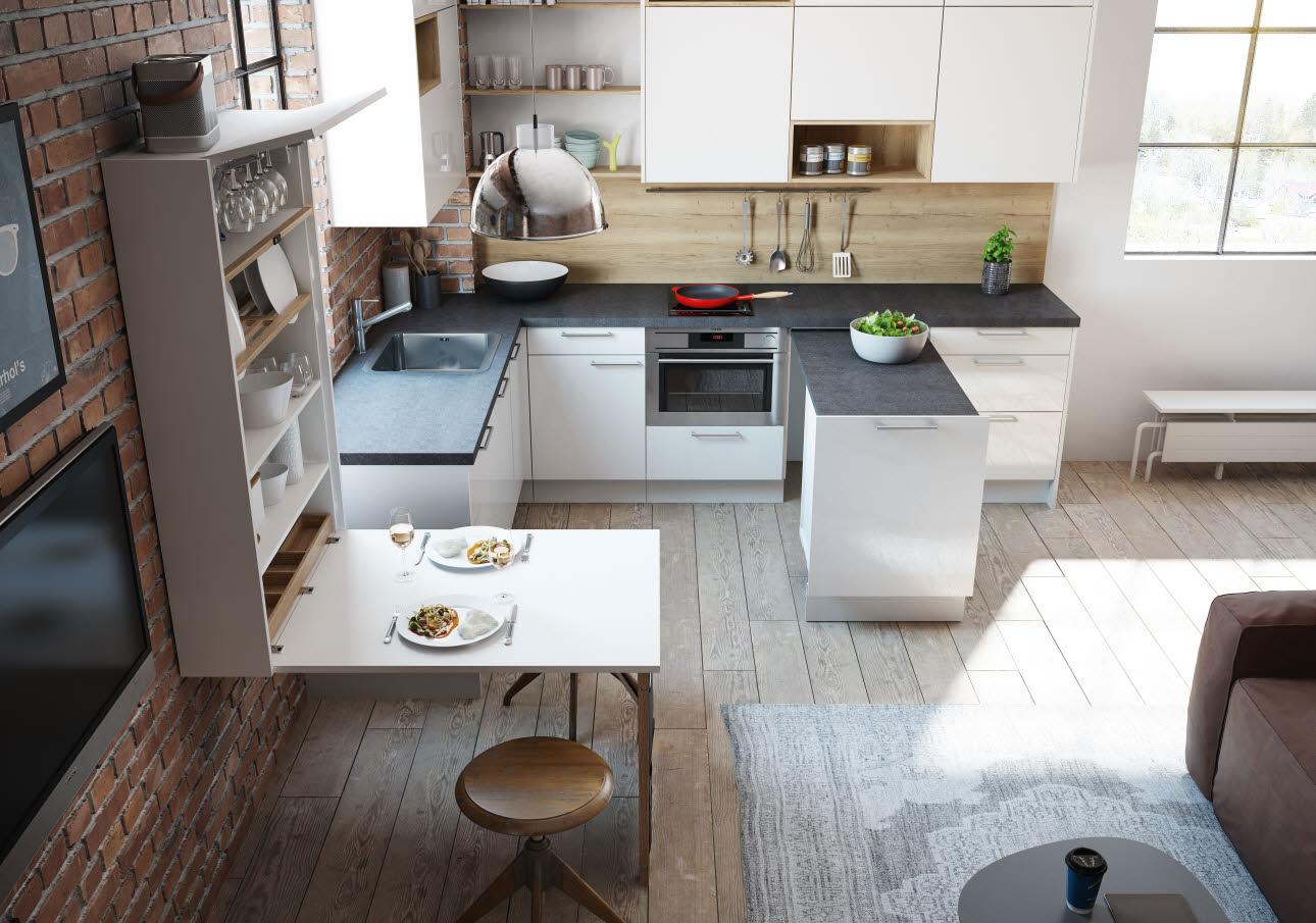 Kleinküchen-Konzept | Raumwunder | ewe Küchen
