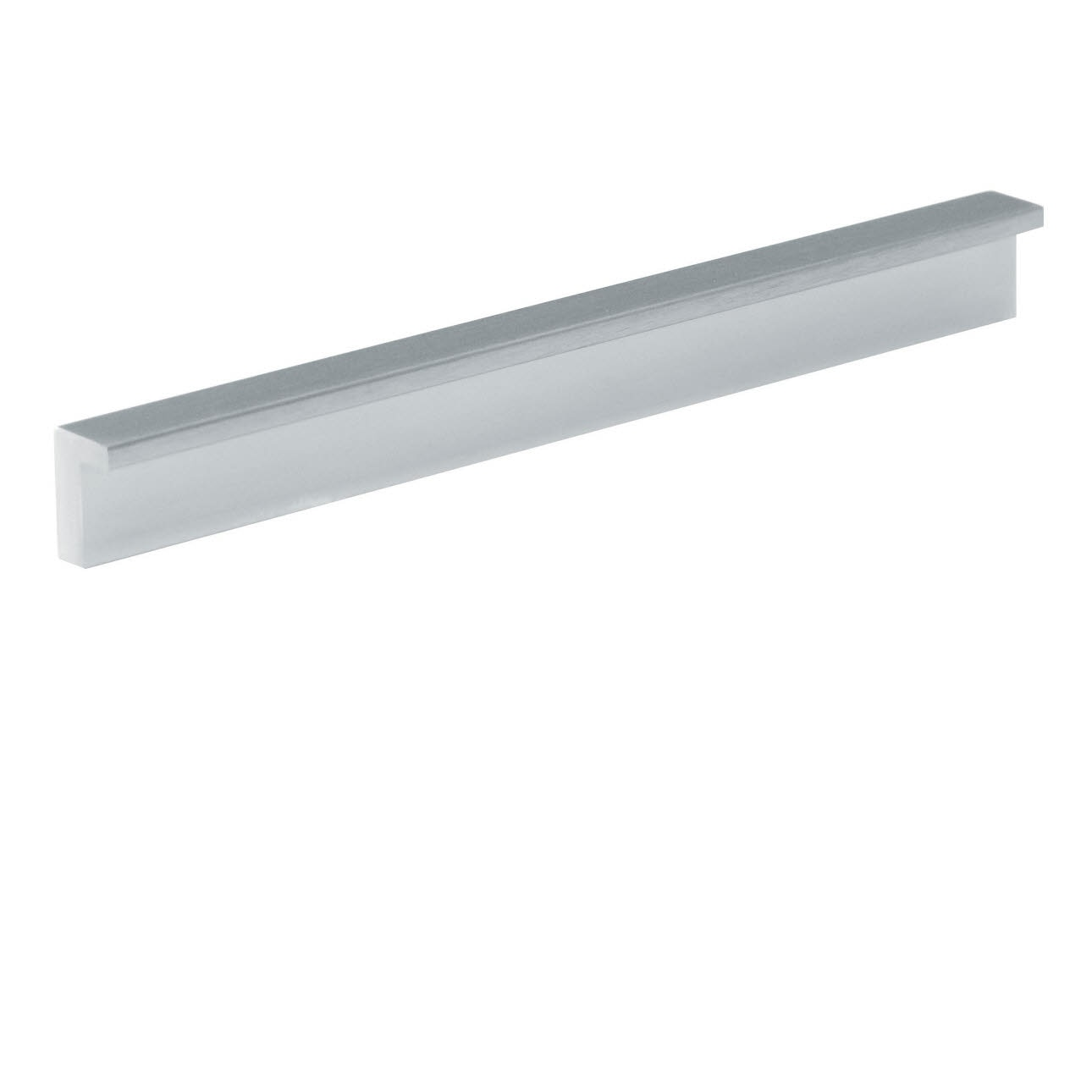 Metal handle profile stainless steel coloured
