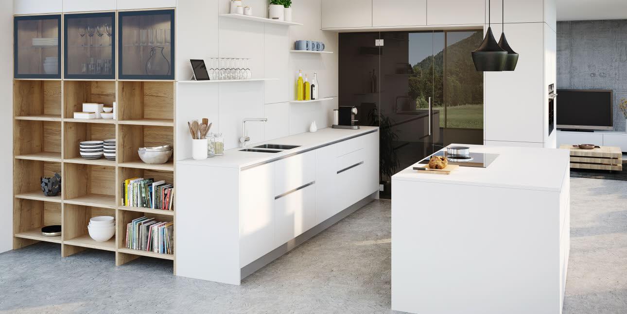 trendsetter vida schn rkelloses k chendesign ewe. Black Bedroom Furniture Sets. Home Design Ideas