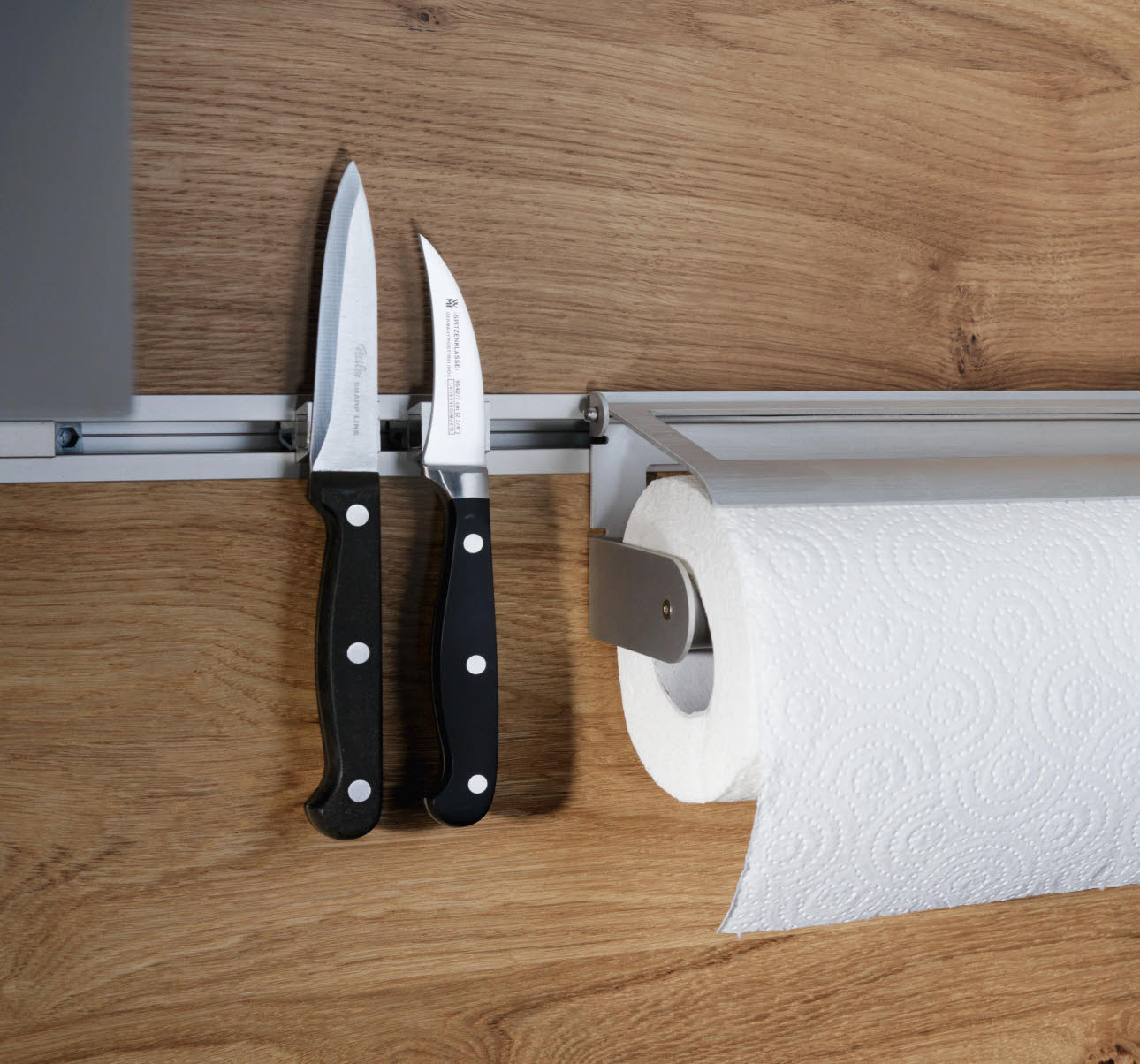 Magnetic bar and paper towel holder