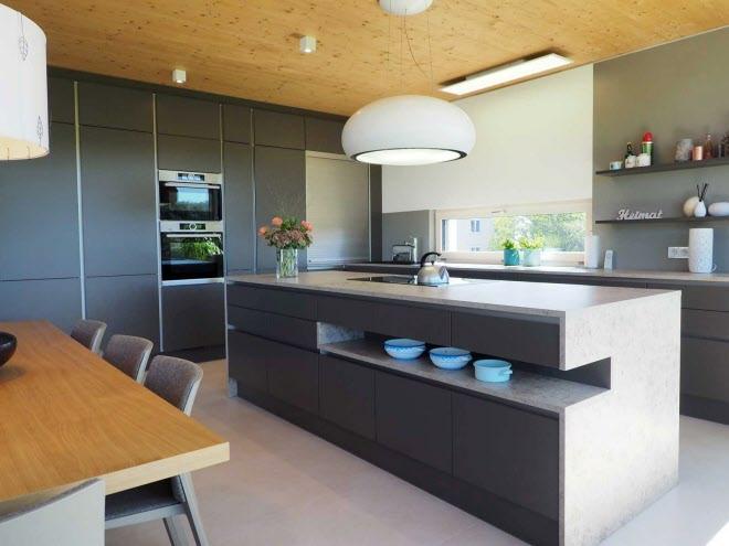 Grifflose, Moderne Küche In Lava