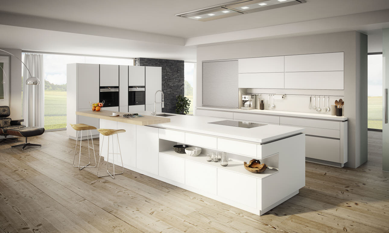 Kochinsel Reihenhaus ~ vida arctic kitchen ewe