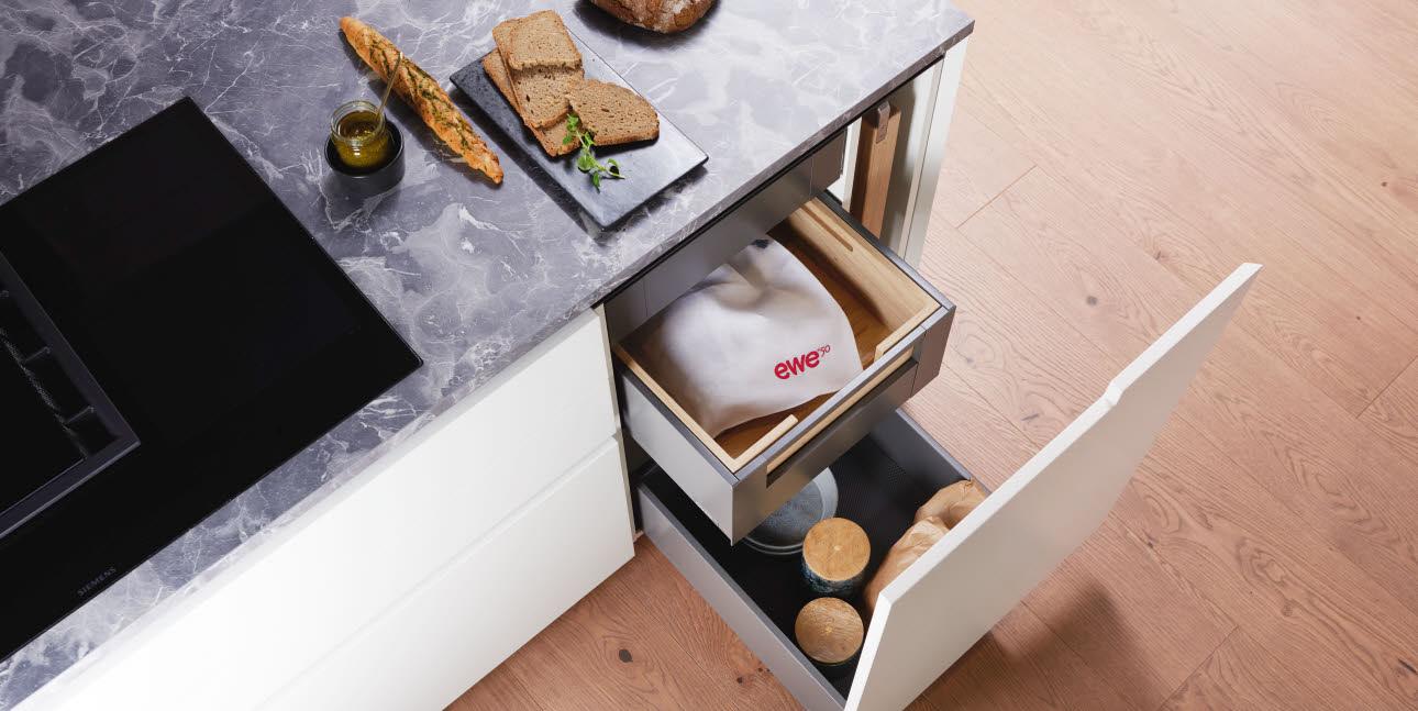Lebensmittellagerung in der Küche