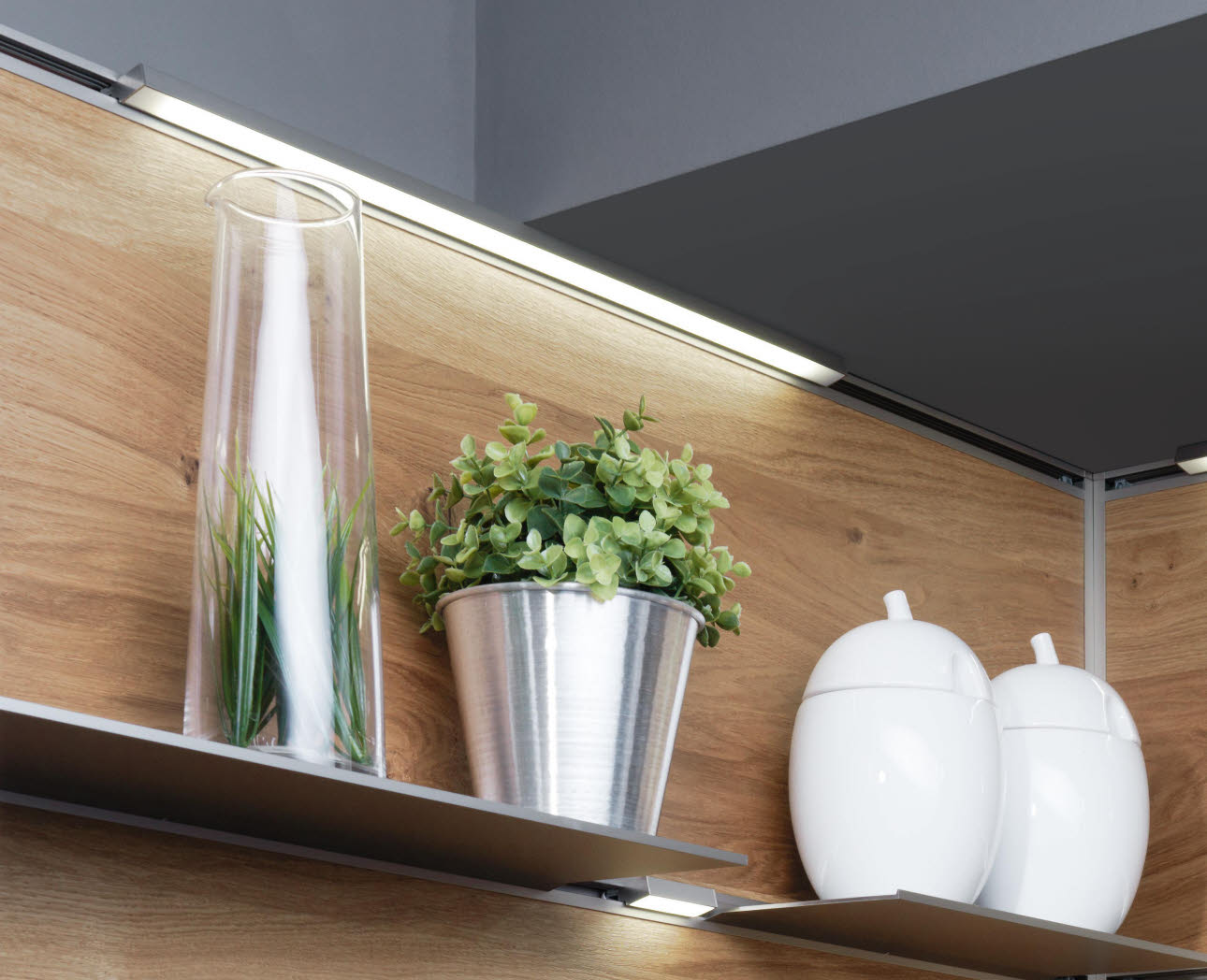 Attachable shelf - vase