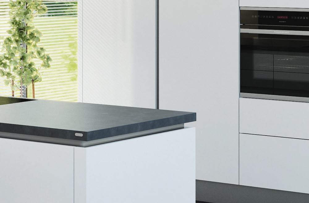 arbeitsplatte in schiefer graphit. Black Bedroom Furniture Sets. Home Design Ideas