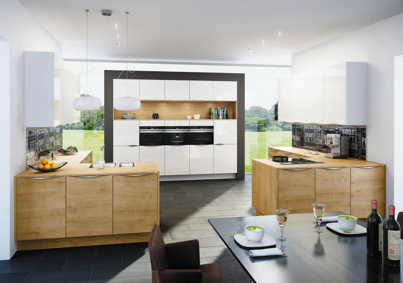 Eiche Küche sintesa vollglasfront ewe