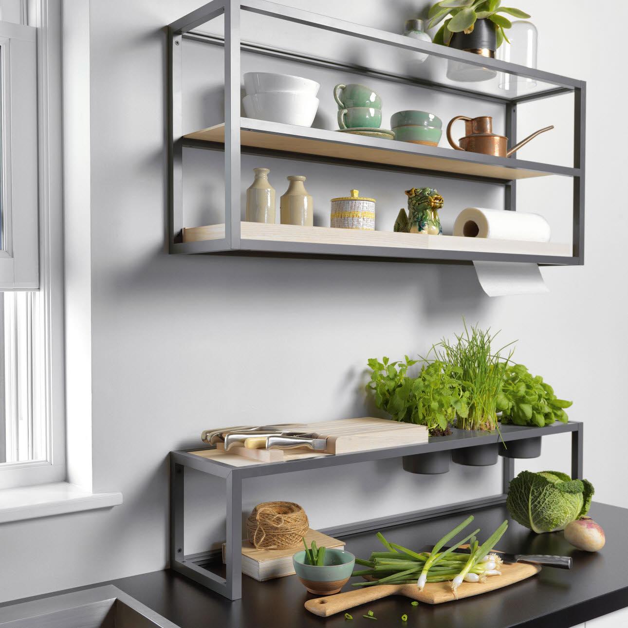lebensmittellagerung in der k che. Black Bedroom Furniture Sets. Home Design Ideas
