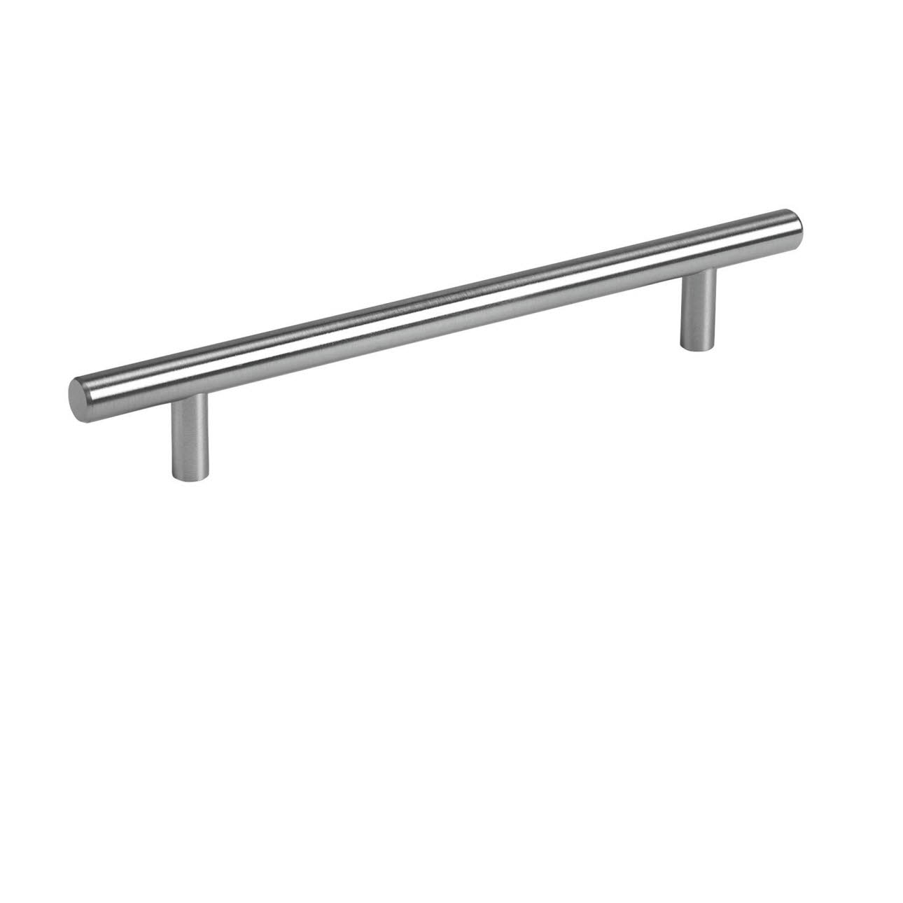 Metal rail bar stainless steel coloured