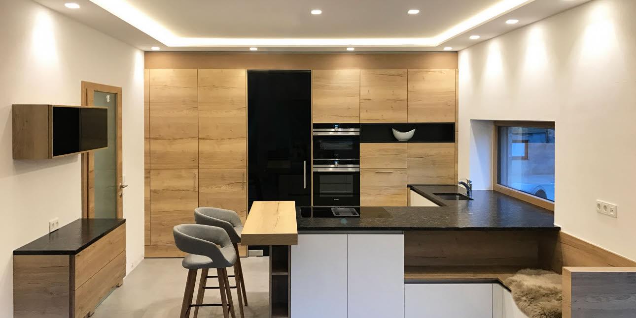 Küche mit Holz  Magazin  ewe Küchen
