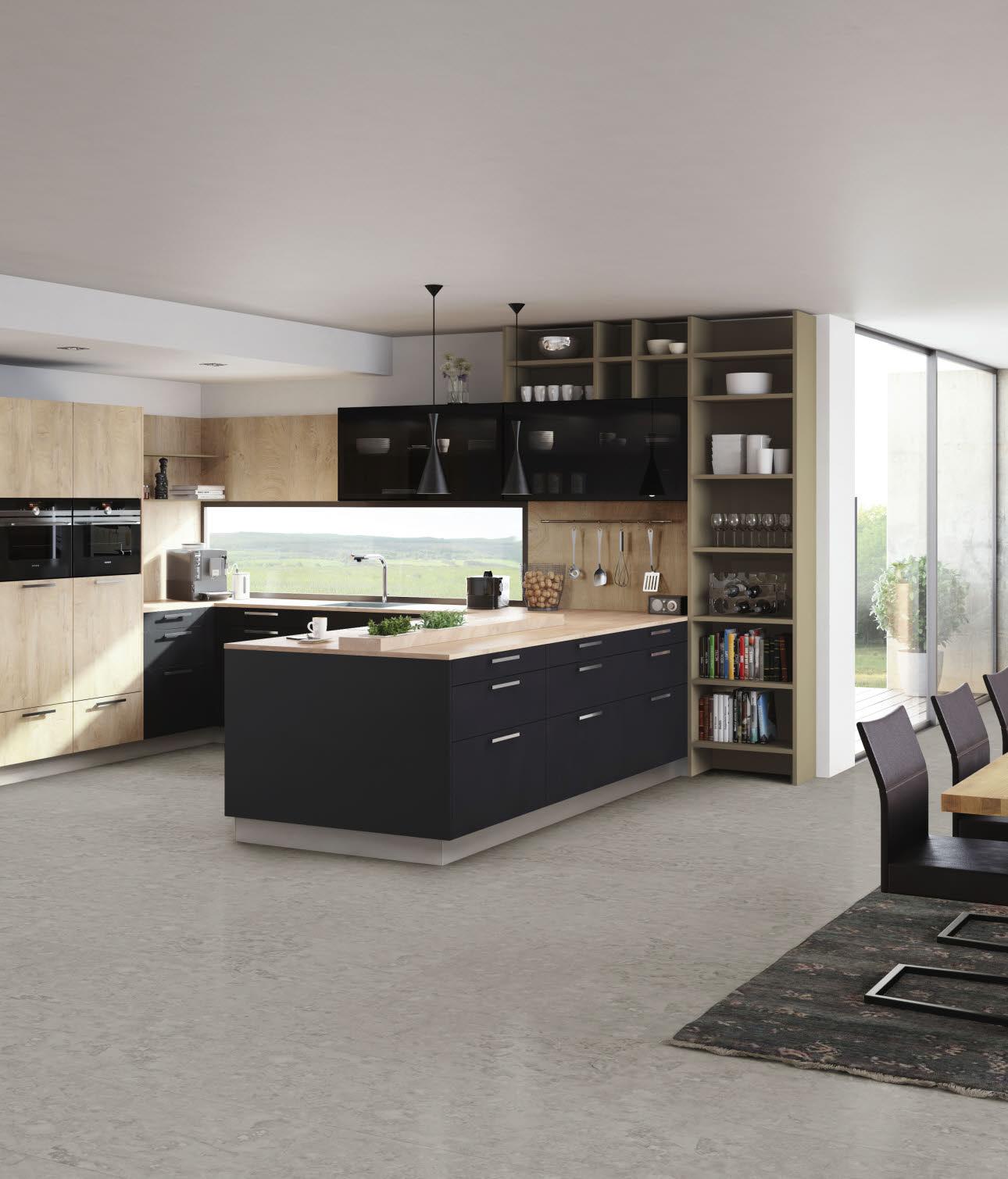 beliebtes interieur matt schwarze kchen. Black Bedroom Furniture Sets. Home Design Ideas